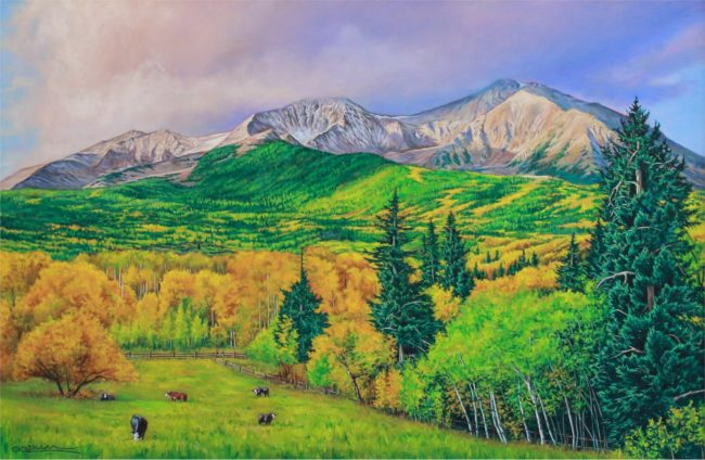 Cody Oldham Painting Vanishing Splendor Oil on Canvas