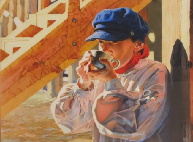 Dean St. Clair Painting A Place in the Sun Watercolor