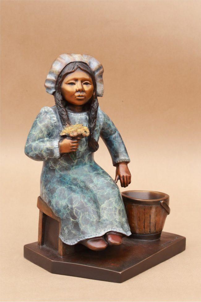 Doug Hyde Sculpture Buttercup & Buttermilk Bronze