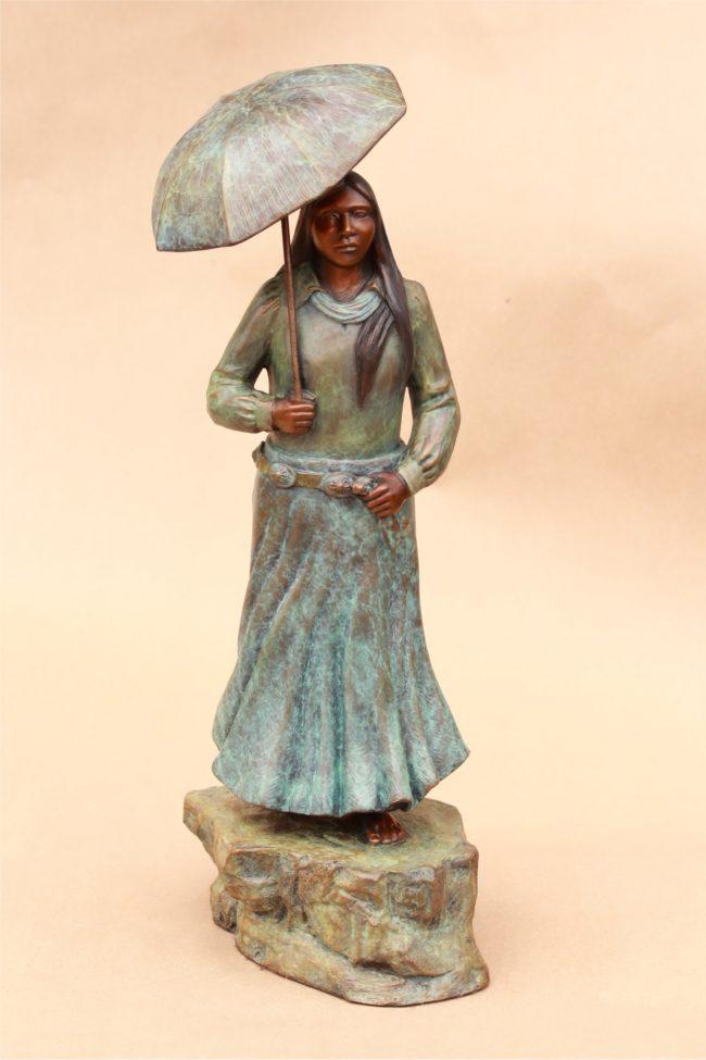 Doug Hyde Sculpture Southwest Summer Shower Bronze