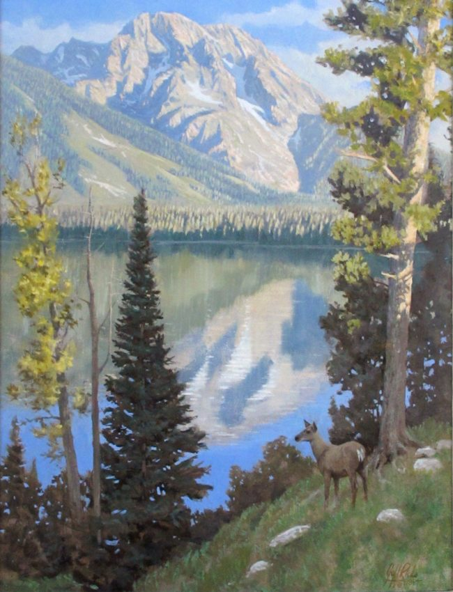 Jeff Ricks Painting Reflections Oil on Board