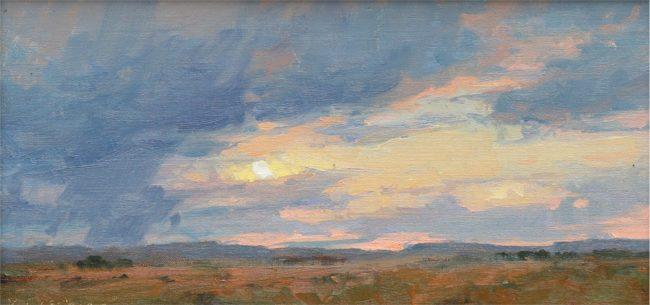 Kim Casebeer Painting High Plains Sunset Oil