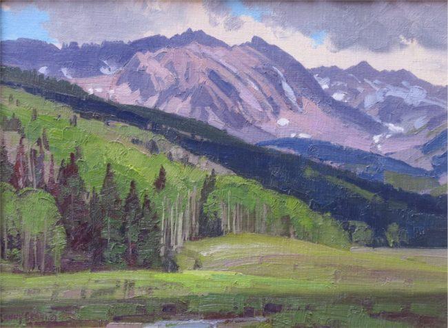 Lanny Grant Painting Star Peak Oil on Board
