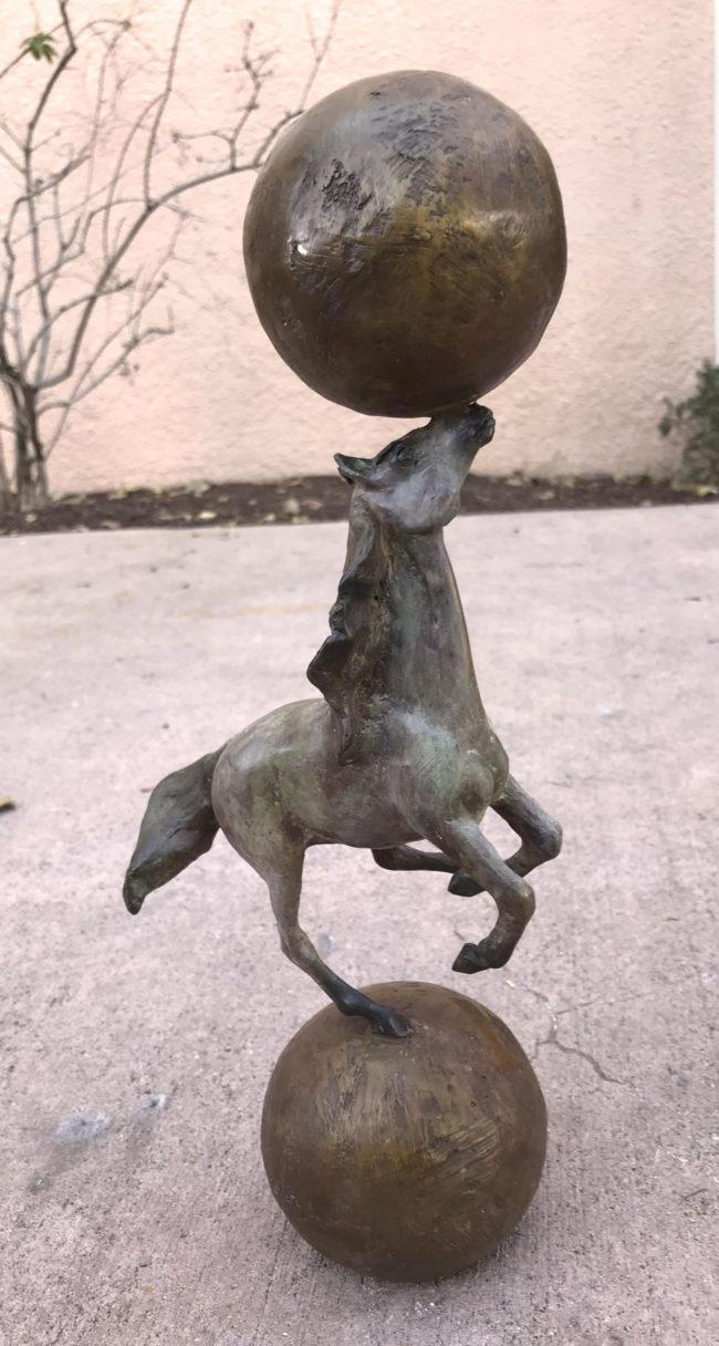 Lisa Gordon Sculpture Steady Steed Bronze