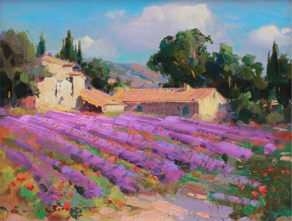 Ovanes Berberian Painting June in Provence Oil on Board