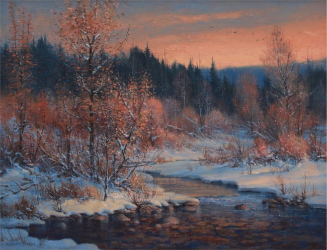 Robert Peters Painting End of October Oil on Linen