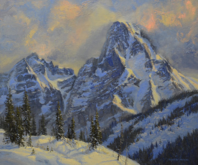 Robert Peters Painting Western Giant Oil on Linen