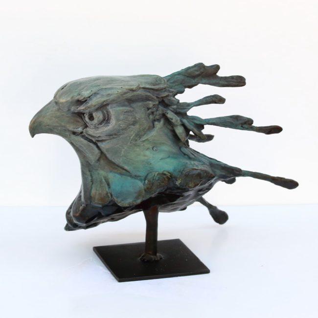 Sandy Scott Sculpture Secretary Bird Bronze