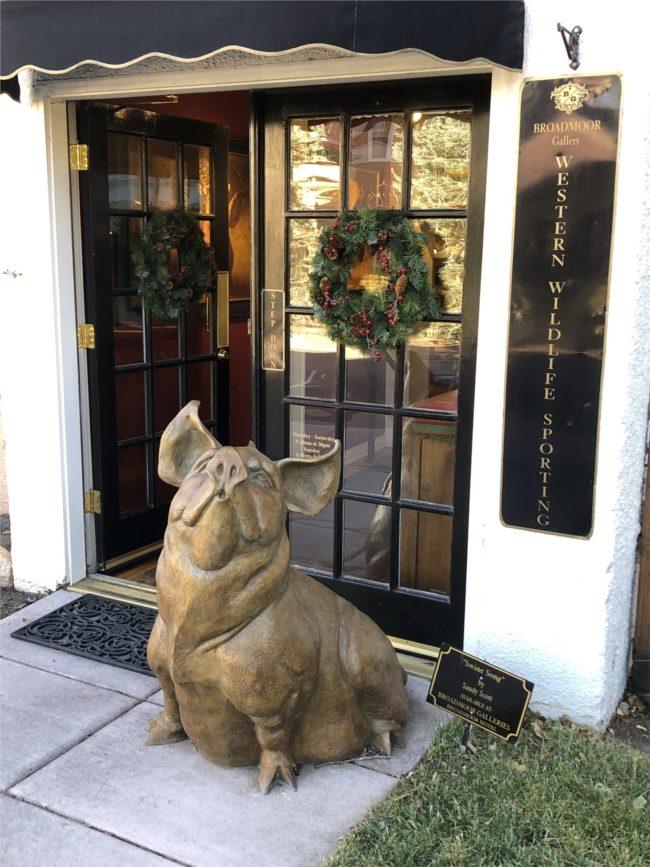 Sandy Scott Sculpture Swine Song Bronze