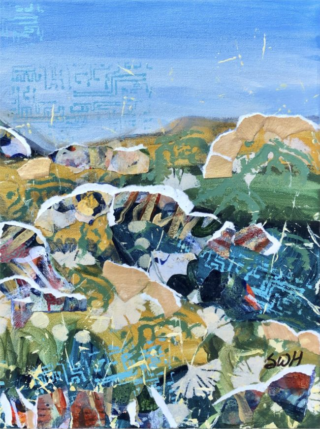 Sara Ware Howsam Painting Castlewood Canyon Triptych #1 Acrylic Mixed Media on Canvas