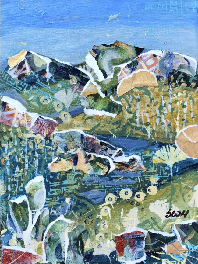 Sara Ware Howsam Painting Castlewood Canyon Triptych #3 Acrylic Mixed Media on Canvas