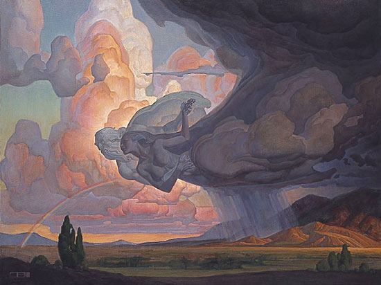 Thomas Blackshear Print Dance of the Wind and the Storm Lithograph