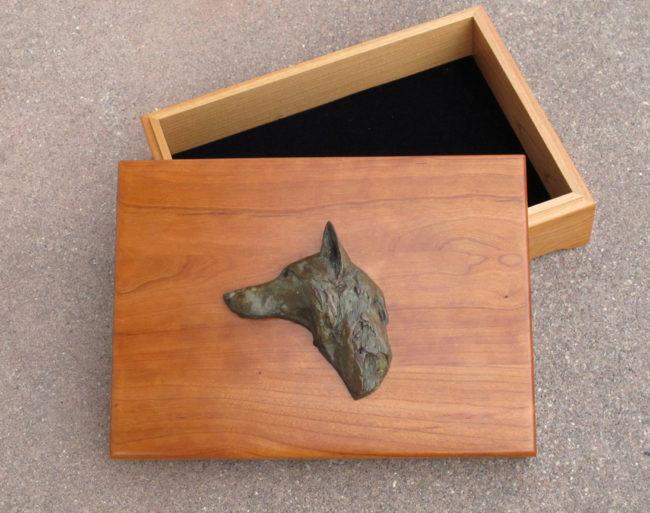 Walter Matia Functional Huntsman Treasure Box - Bronze Fox Bronze & Wood