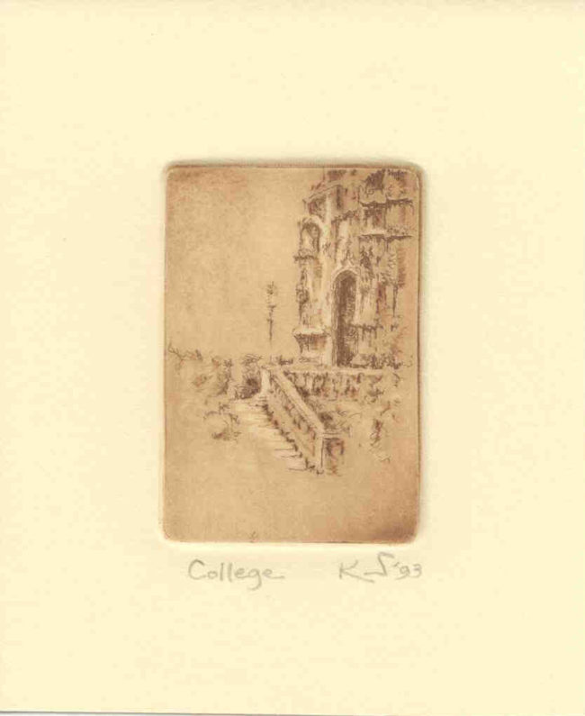 Kent Talmage-Bowers Printmaking College Etching