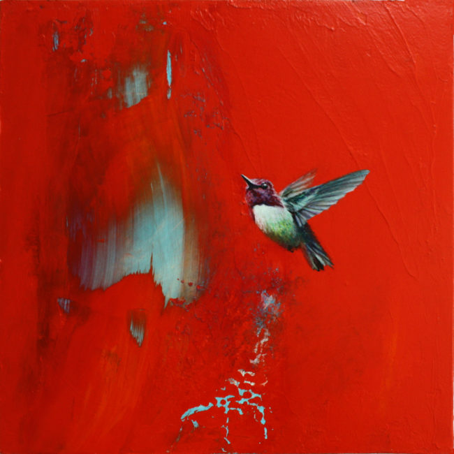 Greg Ragland Painting Ruby in Red Acrylic on Panel