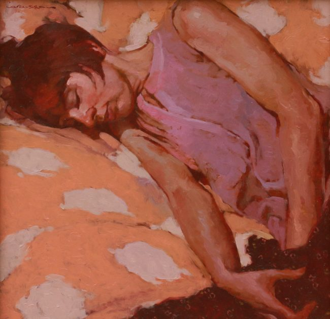 Joseph Lorusso Painting Day Napping Oil on Panel