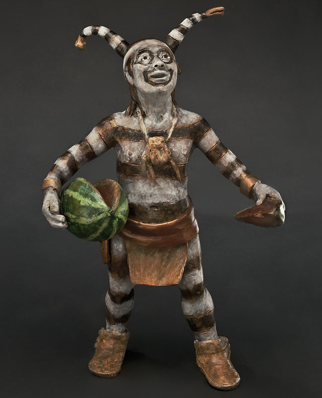 Susan Kliewer Sculpture Watermelon Man Bronze