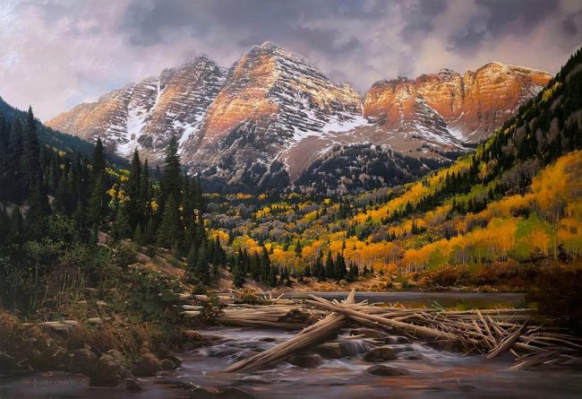 Bruce Cheever Painting The Magic Hour Oil on Linen