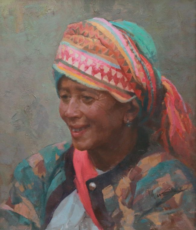 Mian Situ Painting Hani Tradition Oil on Canvas