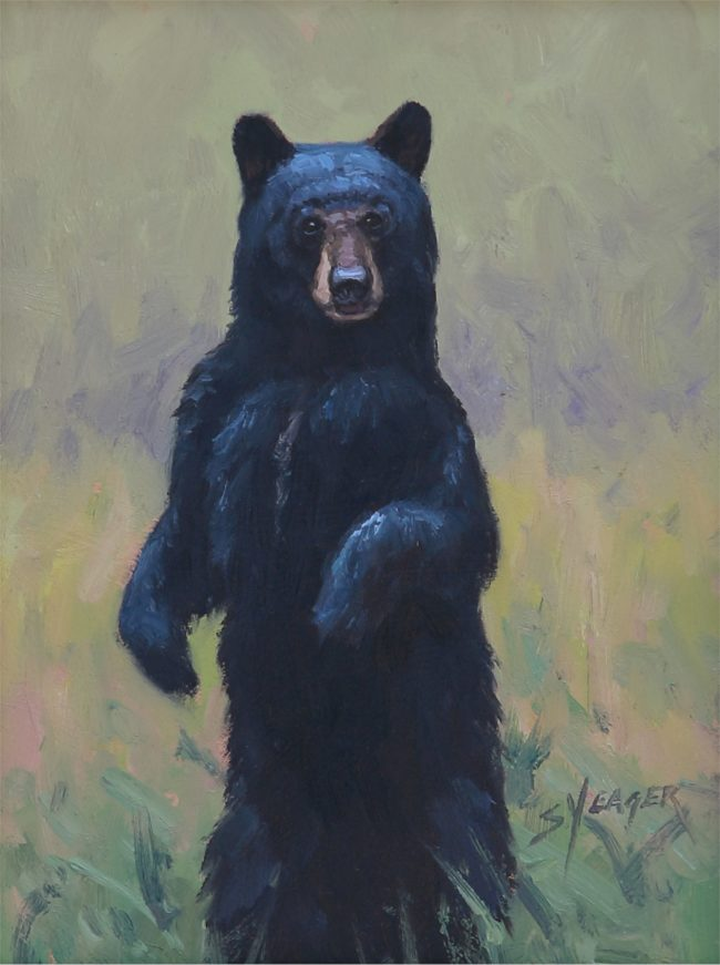 Scott Yeager Painting Curious Oil on Board