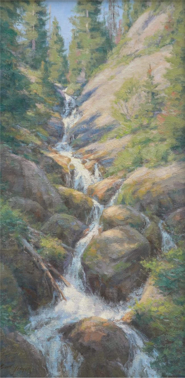 Scott Yeager Painting Green Mountain Falls Oil on Linen