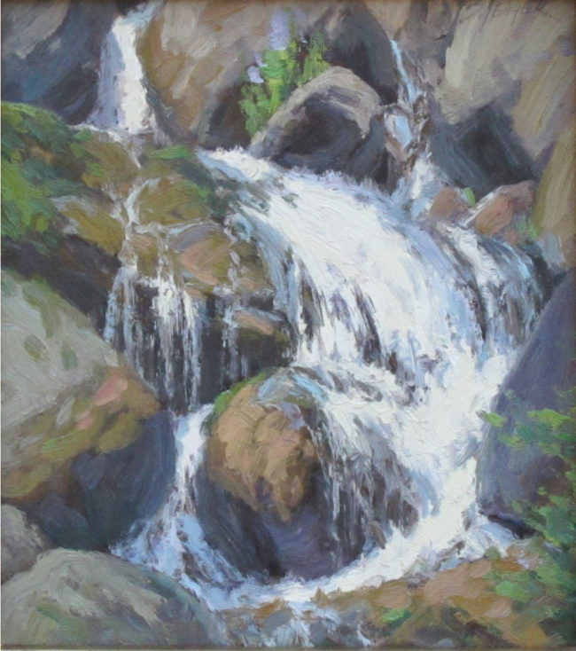 Scott Yeager Painting Sketch for Green Mountain Falls Oil on Board