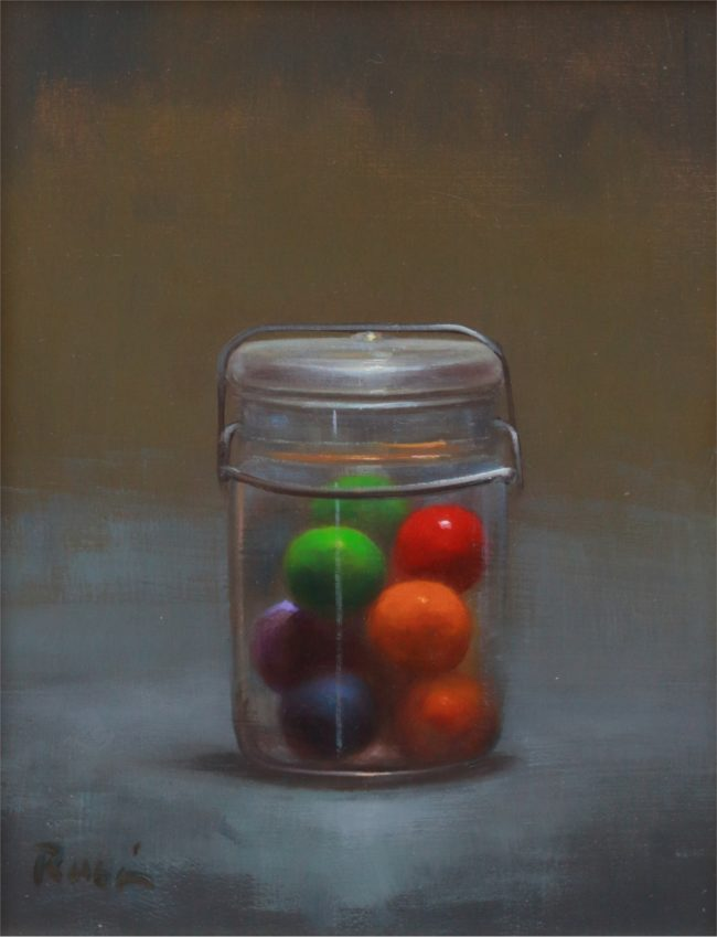 Marc Rubin Painting Canned Fun Oil on Panel