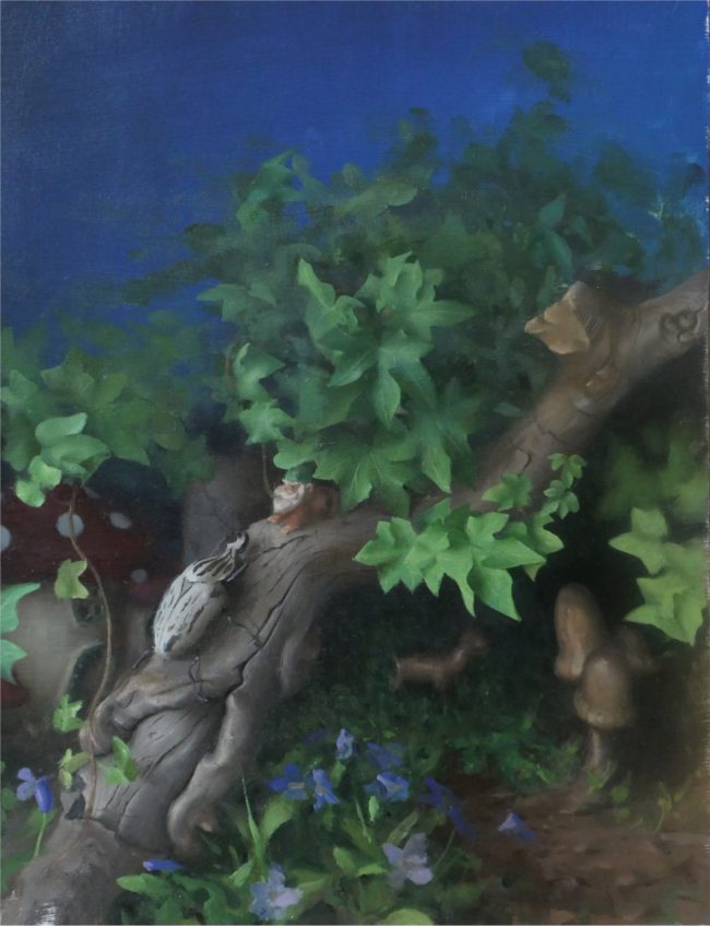 Andrea Kemp Painting Through The Woods Oil on Board