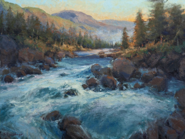 Kim Casebeer Painting Hiking in the Beartooth Oil