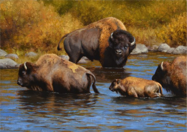 Kyle Sims Painting Late Season Waters Oil on Board
