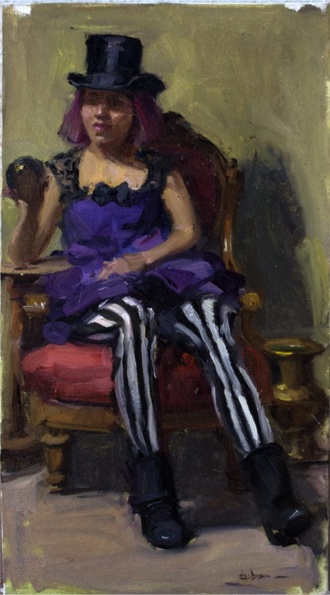 Nancy Chaboun Painting Quite The Character Oil on Board