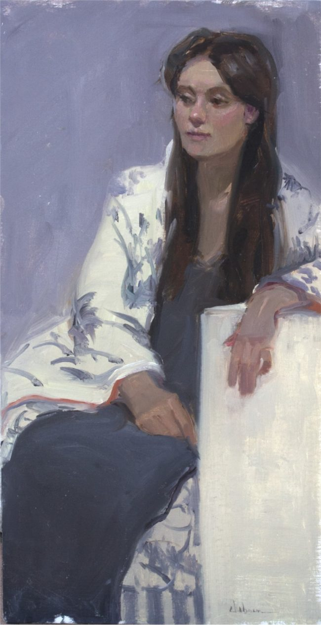 Nancy Chaboun Painting She Fit In Oil on Board