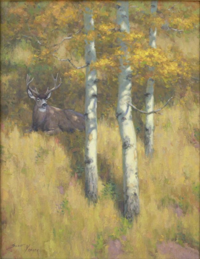 Scott Yeager Painting Aspen Shade Oil on Canvas