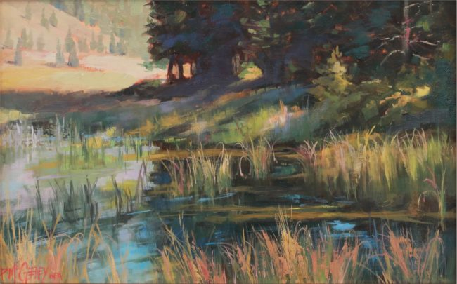 Patricia McGeeney Painting Reflective Moment Oil on Linen