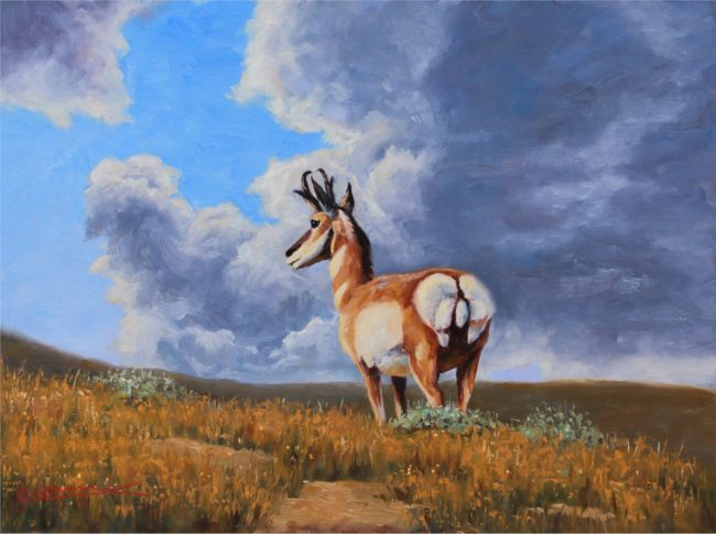 Cody Oldham Painting On The Lookout Oil on Board