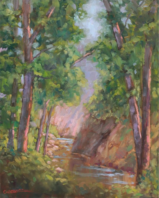 Cody Oldham Painting Seven Falls Canyon Oil on Canvas