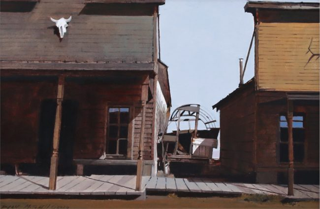 Dean Mitchell Painting Trail Town Acrylic on Board
