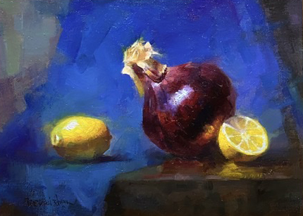 Jie Wei Zhou Painting Sweet and Sour Oil on Linen