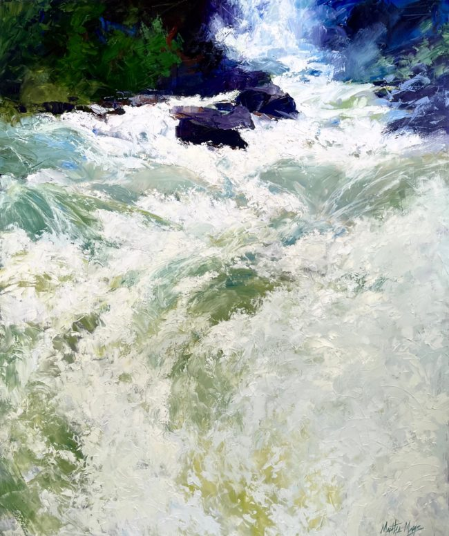 Martha Mans Painting Canyon Water Oil on Canvas