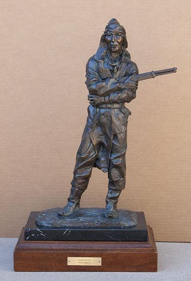 Fritz White CA Sculpture Apache Bronze
