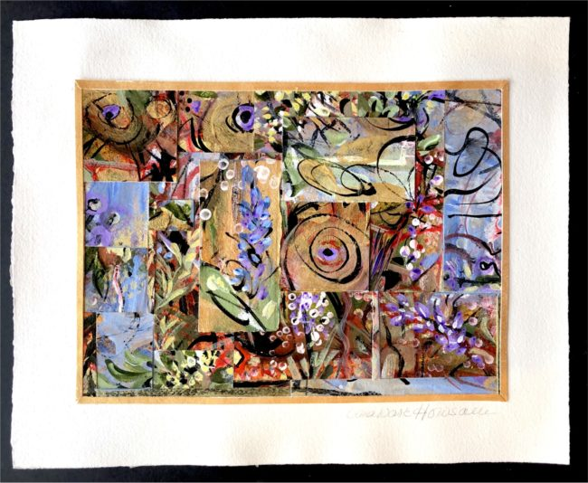 Sara Ware Howsam Painting Breezy Garden Acrylic Collage