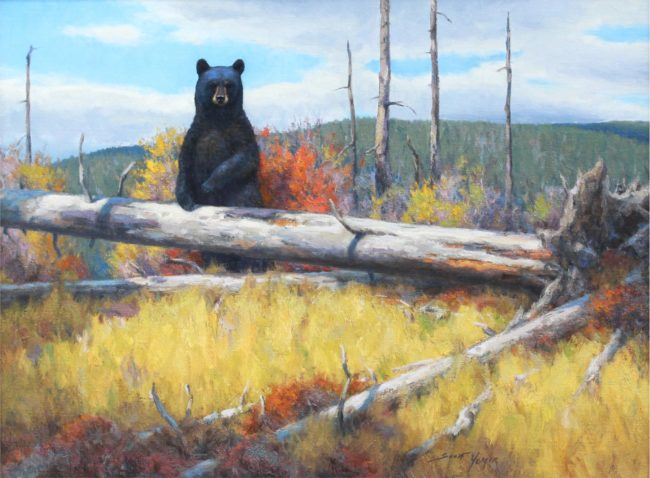 Scott Yeager Painting Hikers Surprise Oil on Canvas